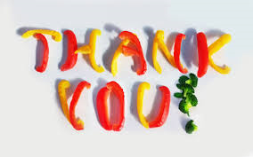 thank you with peppers